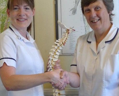 Chiropractors Catherine Owers and Rita Hemmings