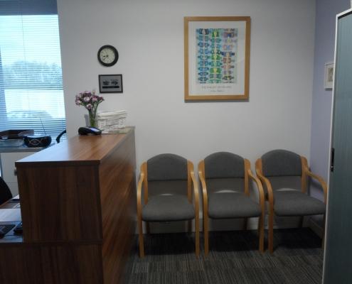 Cheltenham Chiropractic Clinic waiting room