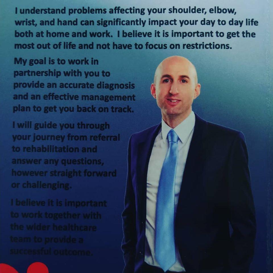 Mr Ewan Bigsby - Consultant Upper Limb surgeon in Cheltenham and Gloucester