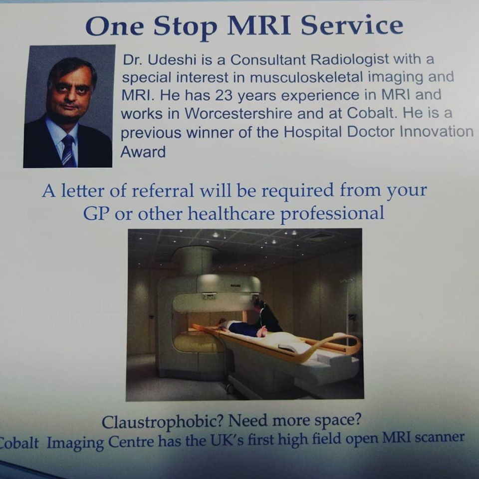 One Stop MRI Service with Dr Umeshi Udeshi at the Cheltenham Cobalt Centre