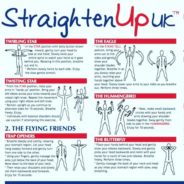 Straighten Up UK Adult exercises