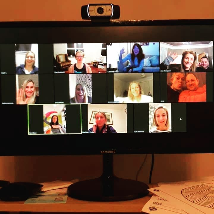 A meeting of friends using the ZOOM App