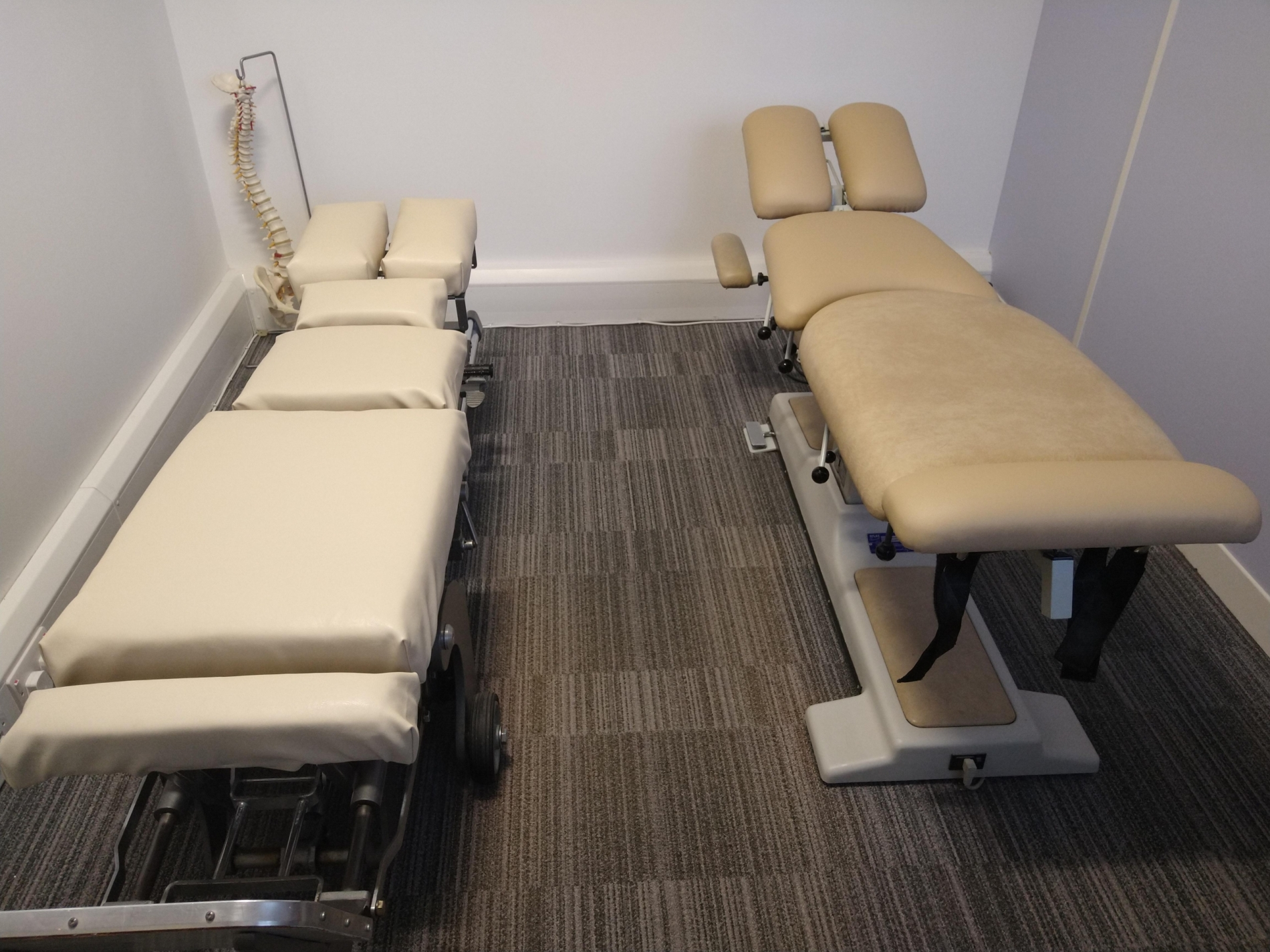 Cheltenham Chiropractic Clinic treatment benches