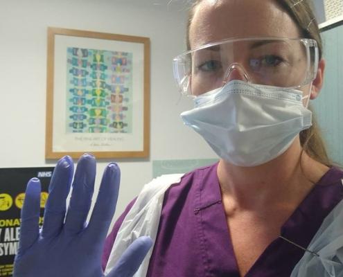 Cheltenham Chiropractor Catherine Owers in full PPEs